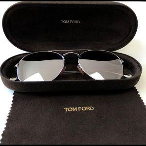 Tom Ford Aviator Sunglasses Rhodium silver Lenses